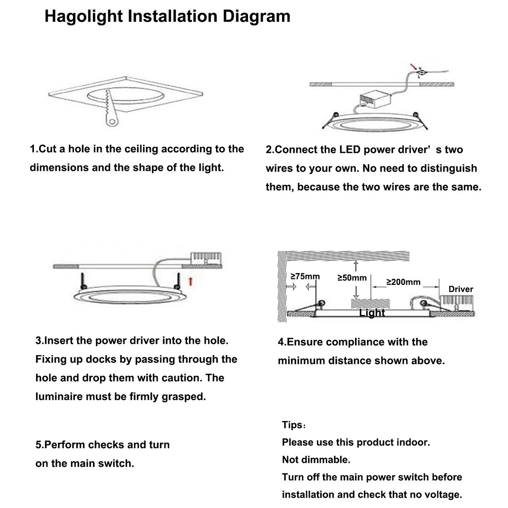 Buy Donwei 6w 12w 18w 24w Square Round Led Panel Power Driver Wiring Diagram 1led Ceiling Light