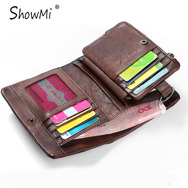 ФОТО ShowMi Bags 2016 Luxury Brand Men Wallet Retro Vintage Small Short Genuine Leather Clutch Purse Coins Cash Handmade Male Wallet