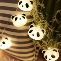 40 LED Fata Cartone Animato Panda Funzionamento A Batteria Luci Della Stringa di 6M luces LED Decorazione Per La Ghirlanda Di Natale Nuovo Anno guirlande