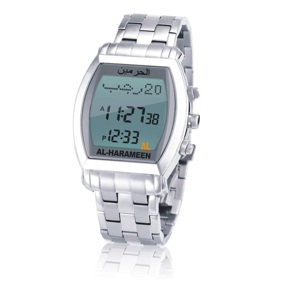 Digital Watches 2 Pcs New Qibla Watch With Adhan Alfajr Time 30mm Waterproof Azan Clock For Sport Watch For Muslim Islam Gift Le Sport Montre 50% OFF Men's Watches