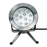 High Quality 304 Stainless Steel 4pcs Lot DC24V 12 3W 36W Color Changing Underwater LED Fountain