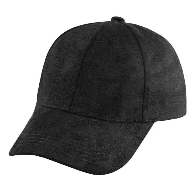 db6c1964861c9 Unisex Men Women Faux suede Baseball Cap Snapback Visor Sport Sun  Adjustable Hat