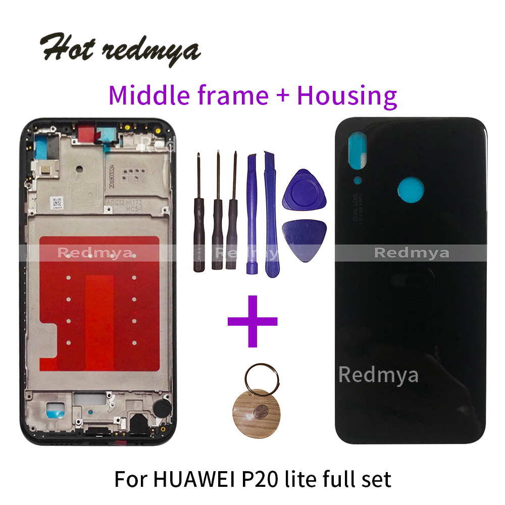 Housing-Cover Replacement Chassis Middle-Frame P20-Lite HUAWEI Bezel-Plate Battery