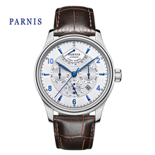Business 43mm Parnis Blue Mark Sapphire Automatic Sapphire Men's Watch