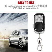 433 MHz Car Door Remote Control Copy 4 Channel Cloning Duplicator Key Fob A Distance Learning Electric Garage Controller