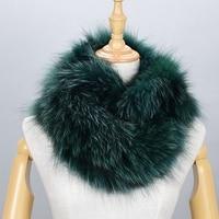 100 Natural Fur Shawl Luxury Silver Fox Fur Collar Scarf Women Real Fox Collars Down Wear