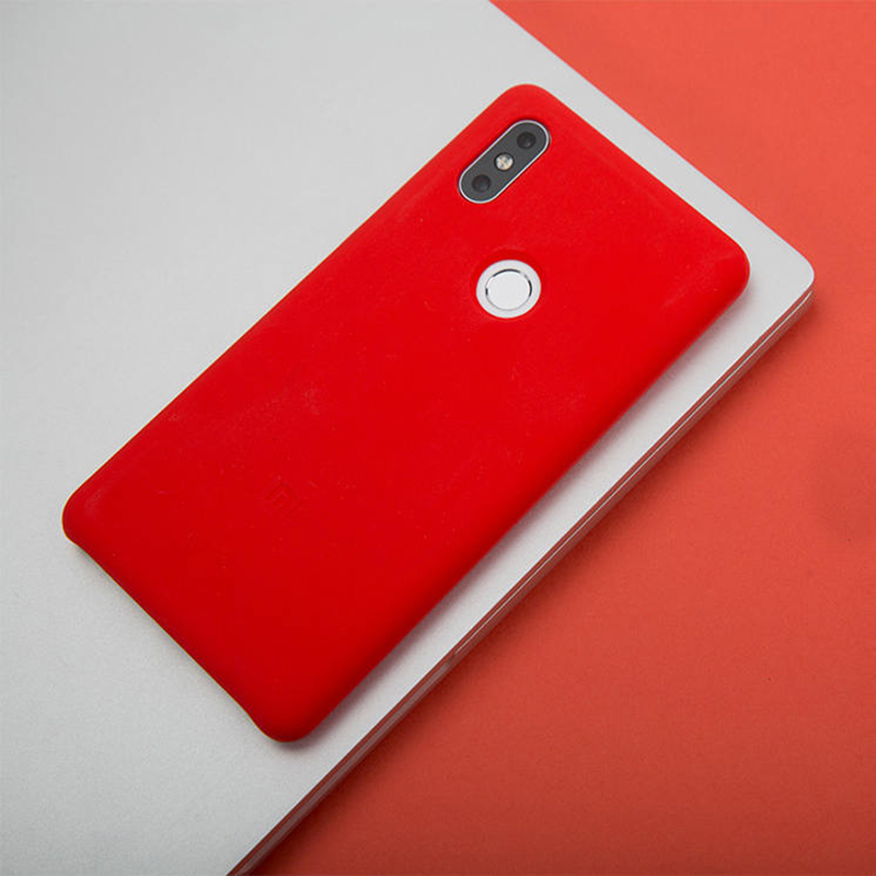 san francisco 3cac4 59fd5 US $15.99 |Original Xiaomi Mi MIX 2S Silicone Case Original Mi MIX 2S  Silicone PC Microfibre MIX 2S Cover Black and Red and Blue-in Phone Bumpers  from ...