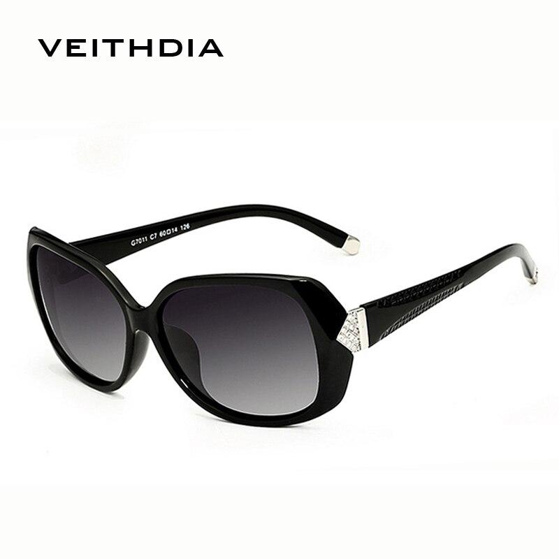 VEITHDIA Oversize Sunglasses Oculos-De-Sol Vintage Polarized Ladies Fashion Women