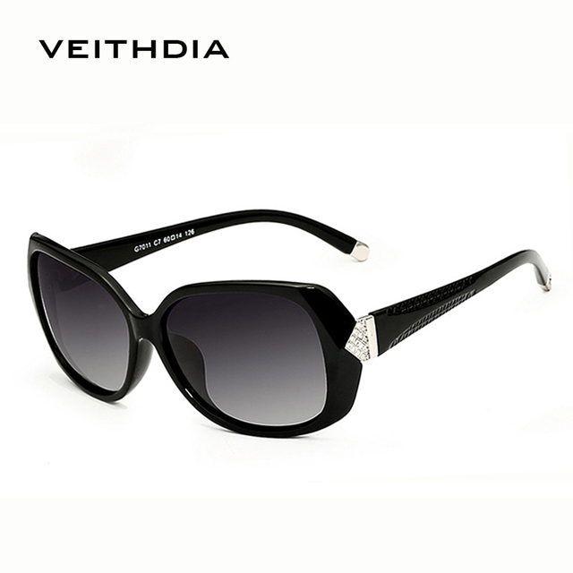 2016 New VEITHDIA Fashion Sunglasses Women  Brand Designer Polarized Lens Sun Glasses Ladies Vintage oculos de sol feminino 7011