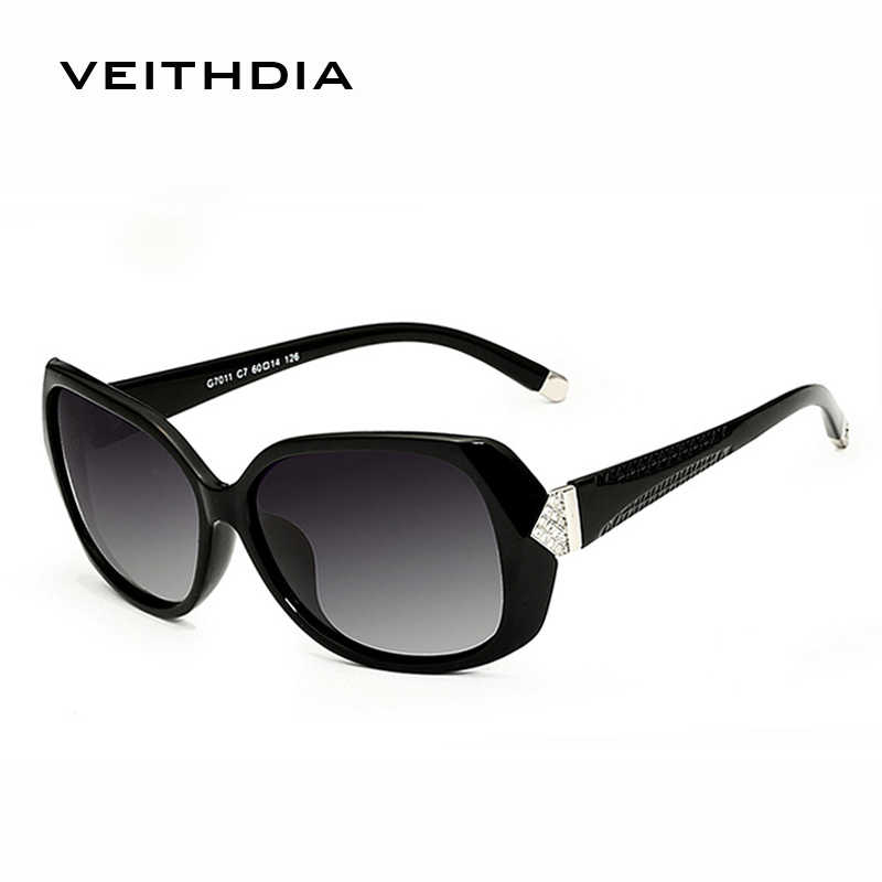 VEITHDIA แฟชั่นแว่นตากันแดดขนาดใหญ่ Polarized Sun แว่นตาผู้หญิง Vintage oculos de sol feminino สำหรับผู้หญิง VT7011