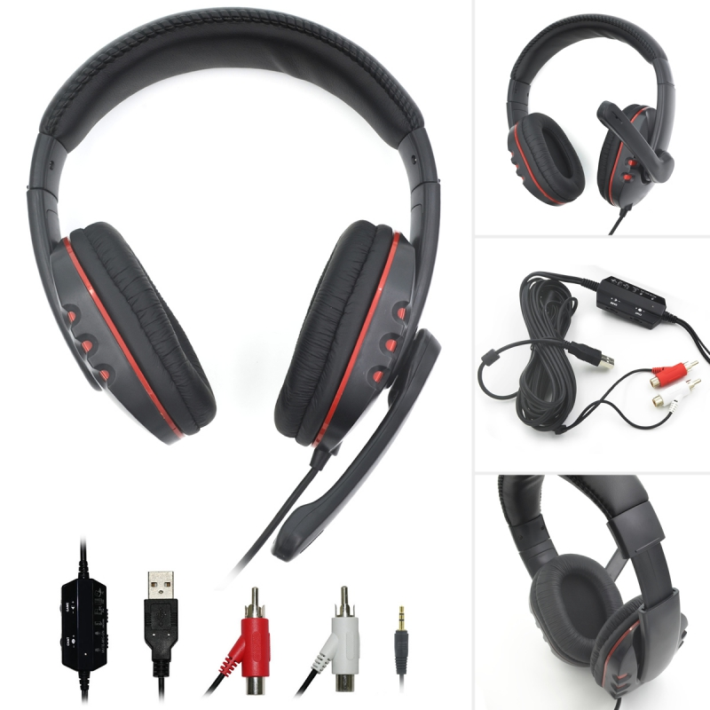 Wired Gaming Headphone Stereo Earphone Game Headset Gamer Handsfree With Mic for PS3 PS4 XBOX360 XBOXONE Computer PC wired headphones earphone gaming headset foldable headphone with microphone stereo headset gamer for computer iphone xiaomi sony