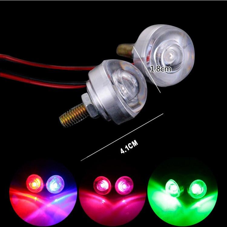 1 Set 12V Car Motorcycle High Power LED Decorative Strobe Flash Lights Brake Tail Light Lamp screw light