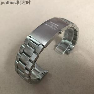 Image 3 - Jeathus רצועת השעון קשת קצה נירוסטה רצועת שעון להקת 20 22mm החלפה עבור omega seamaster 231 speedmaster כוכב אוקיינוס