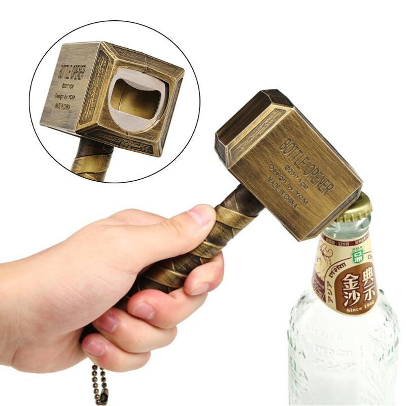 Beer Bottle Openers Hammer of Thor Shaped Bottle Opener Wine Corkscrew Beverage Wrench Jar Openers For Dinner Party Bar