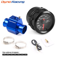 Dynoracing 2'' 52MM Car 7 Colors Led Water Temperature Gauge 40 140 Celsius High Speed With Water Temp Joint Pipe Sensor Adapter