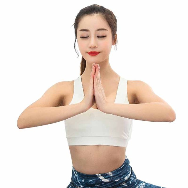 2297dc0135 CALOFE Women Yoga Bra Thin Breathable Fitness Sport Bras Top Gym Training  Running Brassiere Woman Shockproof