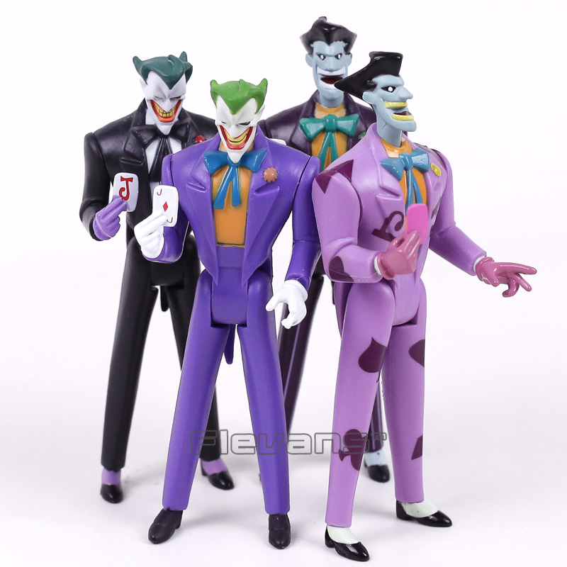 DC COMICS Batman The Joker PVC Action Figures Collectible Model Toys 4pcs/set 12cm neca dc comics batman superman the joker pvc action figure collectible toy 7 18cm 3 styles