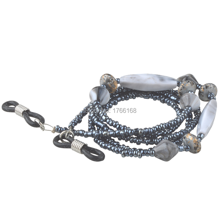 ღ ღnew Style Grey Beaded ᗖ Sunglasses Sunglasses Chain