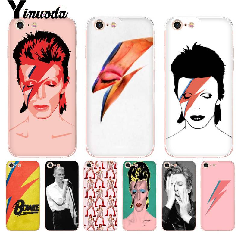 Yinuoda For iphone 7 6 X Case David Bowie Coque Shell Phone Accessories