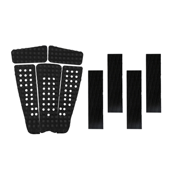 5 pcs Durable Square Grooved EVA Surf Surfboard SUP Skimboard Longboard Traction Deck Grip with 4 Tail Pad DIY Accessories