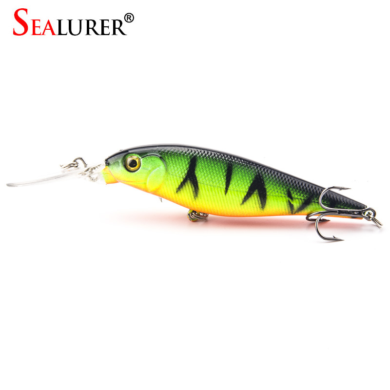 1PCS 11cm 10.5g Minnow Fishing Lures High Quality 4# Hooks Wobble Hard Bait Swimbait Fishing Tackle 10 Colors Available