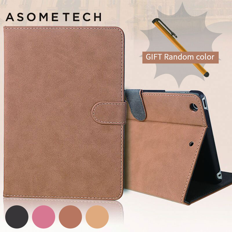 Retro Business PU leather Case For iPad Air 1 2 Pro 9.7 fundas For Cover Ipad 2 3 4 Mini 1 2 3 4 Sleep smart stand tablets Cover diamond pattern card slot tablets metal button case for ipad mini 1 2 pu leather flip stand cover for ipad mini 1 2 3 7 9 fundas