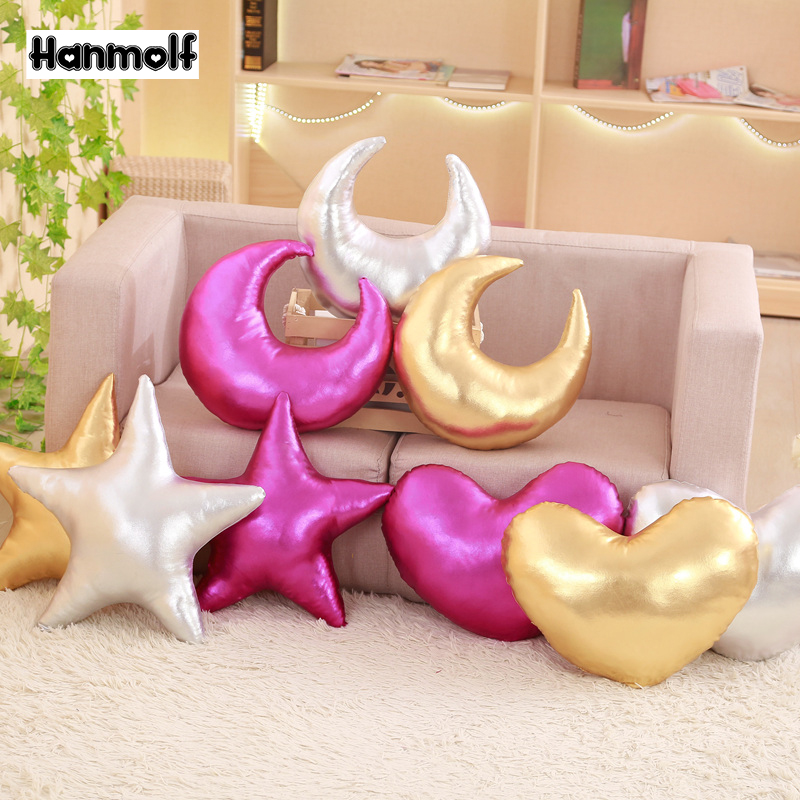 Strange Us 6 23 Bright Stuffed Star Moon Heart Shaped Pillow Pu Leather Sofa Chair Bed Kids Cot Decorative Throw Pillow Rose Red Silver Golden In Movies Inzonedesignstudio Interior Chair Design Inzonedesignstudiocom
