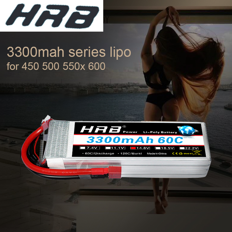 RC Lipo Battery HRB 3300mah 6s 5s 4s 3s 2s 60C Burst Rate 120C for Align trex 500 550 600E helicopter Drone Car Boat image