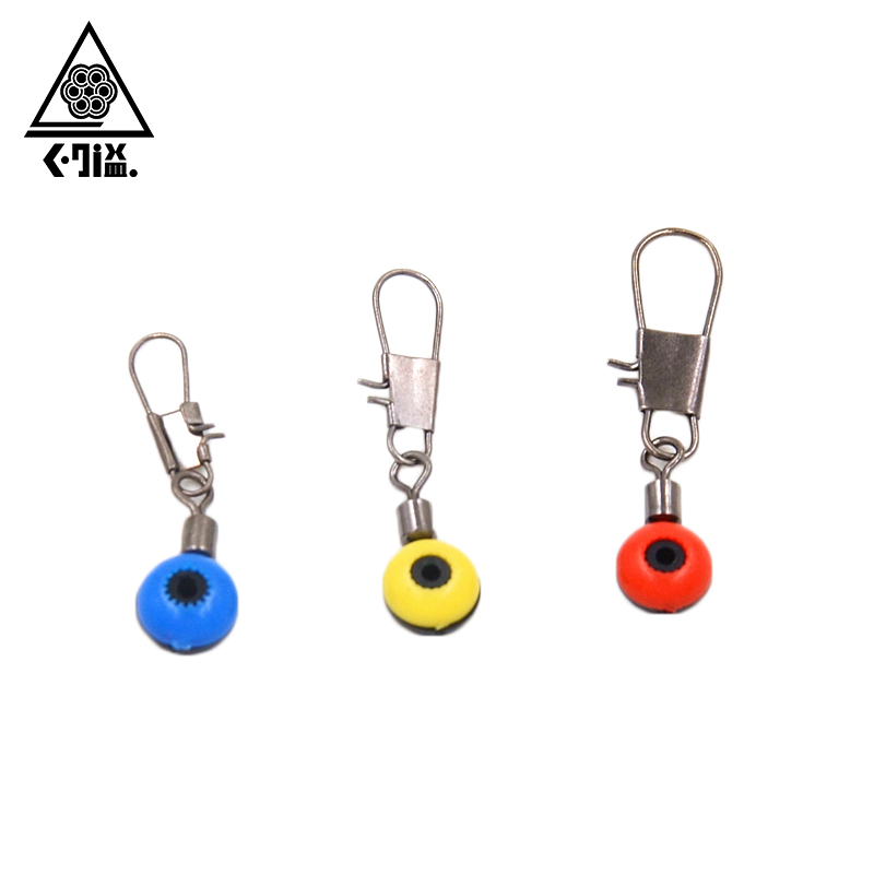 30Pcs Fishing Space Beans Ball Bearing Swivels Interlock Snap Fishing Float Connector Seat to Fishing Line and Fishhooks S M L