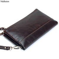 Maillusion Day Clutch Wallets Men Genius Leather Vintage Long Designer Famous Brand Zipper Hasp Multifunction Coin