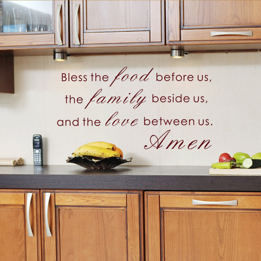 Bless The Food Before Us The Family Beside And The Love Between Us Amen Bible Verse Vinyl Art Quote 30 5cm X 55 9cm Bible Verse Bible Quotesfamily Quotes Aliexpress
