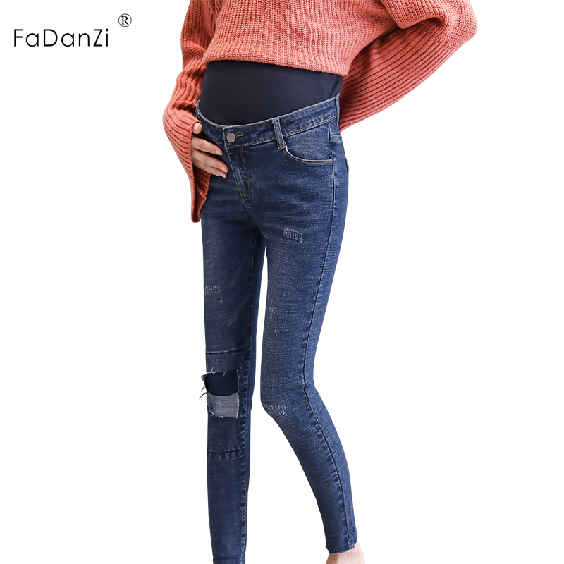 2018 new maternity pants pregnant women jeans slim pregnant women stomach lift pants ladies denim pants pregnant women pants213# chicd hot sale skinny jeans woman autumn new pencil jeans women fashion slim blue jeans mid waist denim pants plus size xp135
