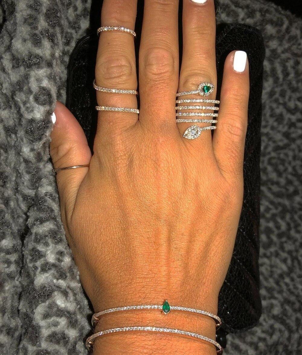 2019 Горячая продажа Топ Модный микро паве установка вечерние классические ювелирные изделия Anillos Потрясающие многорядные полные, кольца на палец для женщин