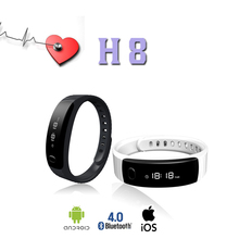 H8 Professional Sport Bluetooth Bracelet Smart Bracelet Band Pedometer Step Calorie Count Smart White Sleep Monitor