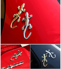 OC3D-2 3D Metal Gecko Emblem Lizard/Gecko Car Sticker Truck Logo Decal Graphics Silver/Gold