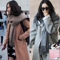Otoño e invierno con femenino de Corea del invierno de la cachemira pura bufanda de lana de tejer la bufanda alargar engrosamiento