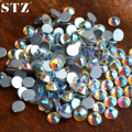 STZ 1440pcs/pack SS3/SS4/SS5/SS6/SS8/SS10 AB Glitter Rhinestones for Nails Tips 3d Glitter Flatback Decorations Nail Tools NRS02