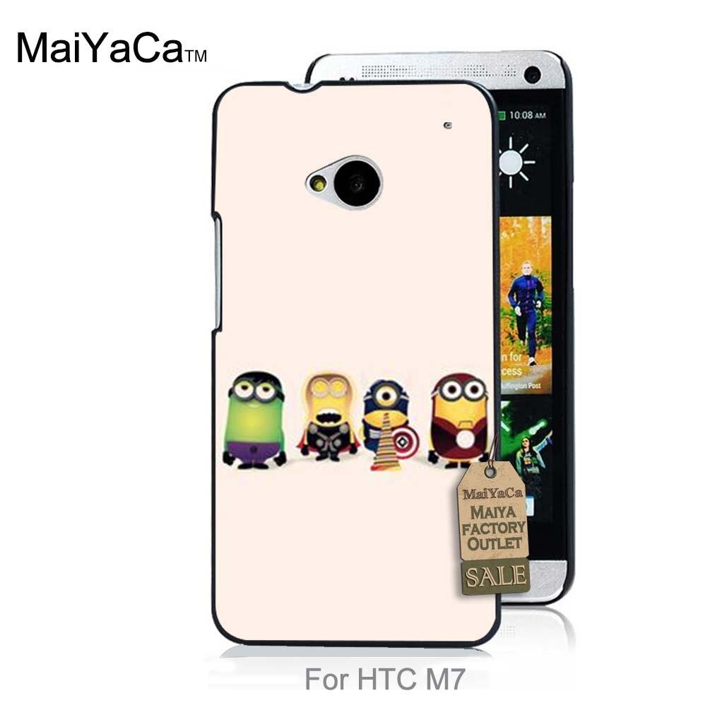 Hot impreso fresco accesorios del teléfono para htc one m7 case despicable me mi