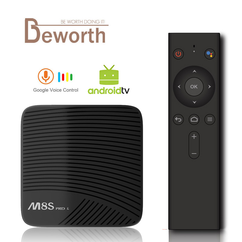 Google Voice Control TV Box Android TV 7.1 OS Amlogic S912 3G 32G 4K BT4.1 Netflix Youtube Stalker Set Top Box Mecool M8S PRO L