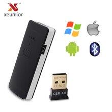 Mini scanner de código de barras bluetooth 1d 2d leitor de código de barras móvel sem fio para ipad iphone android tablet pc portátil mão scanner