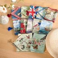 33cmx180cm 2017 Fresh Pastoral Style Cotton Linen Table Runner Soft Thick Floral Table Flag Decorative Cabinet