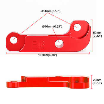 4 colors Steering Lock for Drifting Adapter Increasing Turn Angle about 25% Tuning Kit E46 For BMW non-M3