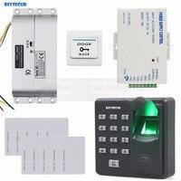 DIYSECUR Biometric Fingerprint RFID 125KHz Password Keypad Door Access Control System Kit + Electric Mortise Lock