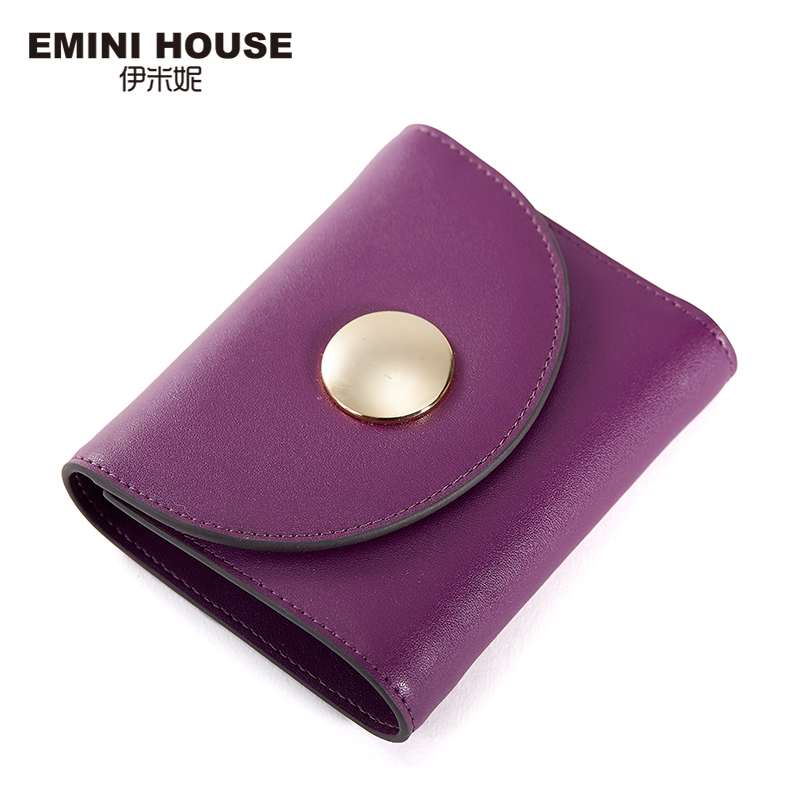 EMINI HOUSE Female Wallet Housekeeper Split Leather Wallet For Womens Wallets And Purses Card Wallet Holder Women Coin Purse