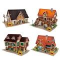 3D Головоломки DIY Мир Стиля Картона модель Игрушки, архитектурные Особенности Вкус Германии Puzzle 3D Модели, игрушки Для Детей