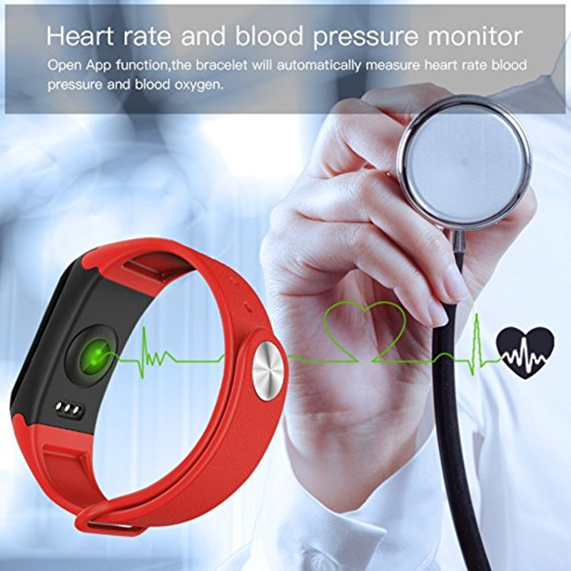 F1 Smart Band Blood Oxygen Blood Pressure Watches Sport Fitness Bracelet Heart Rate Monitor Smartband pk fitbits Xiaomi Miband 2
