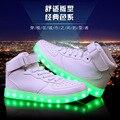 USB levou as mulheres sapatos casuais sapatas das mulheres nova moda luminosa Led iluminado sapatos mulheres 2017