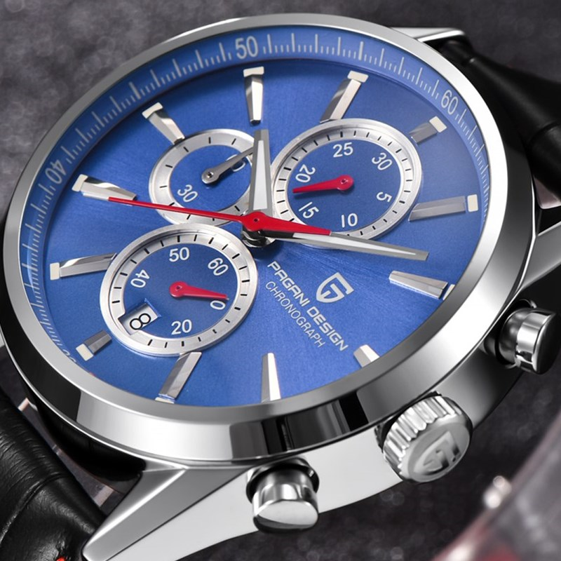 Men Watches PAGANI DESIGN Brand Fashion Waterproof Chronograph Quartz Sport Business Leather Blue Watch Men Relogio Masculino pagani design business casual leather men s watches fashion sport utility chronograph military watches relogio masculino 2016
