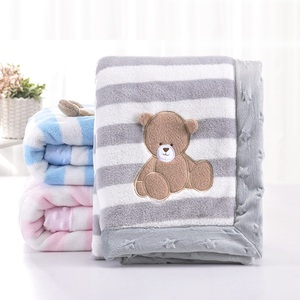 Image 5 - High Quality Baby Blanket Infant Bebe Thicken Flannel Swaddle Envelope Stroller Cartoon Blanket Newborn Baby Bedding Blankets