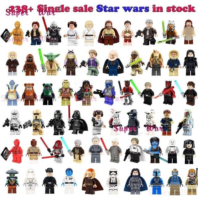 1 Pcs Darth Vader Han Solo R2-D2 BB-8 Ewok de ação building blocks brinquedos para crianças